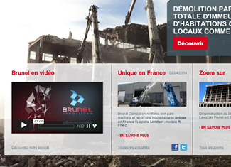 Brunel démolition : site corporate